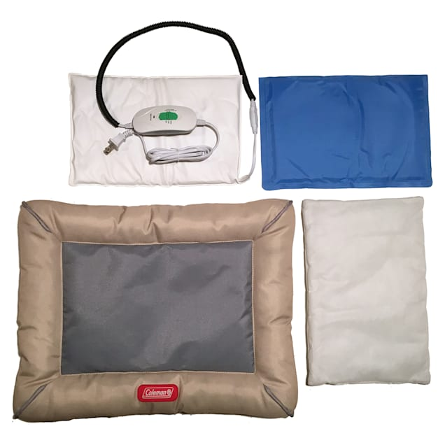 """Coleman 4 Piece Warm Cool Bolster Dog Bed, 18"""" L X 14"""" W X 1"""" H - Carousel image #1"""