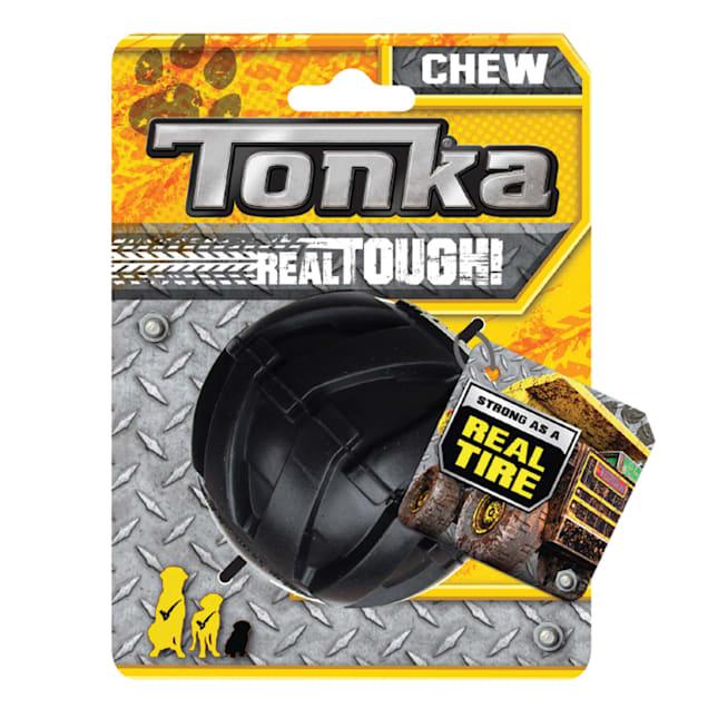 Tonka Rubber Black Mega Tread Ball Dog Toy, X-Small - Carousel image #1