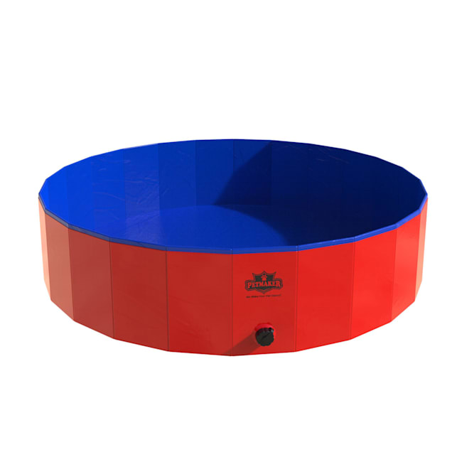 """PETMAKER Pet Dog Pool and Bathing Tub-Foldable with Carrying Bag, 47"""" L X 47"""" W X 12"""" H - Carousel image #1"""