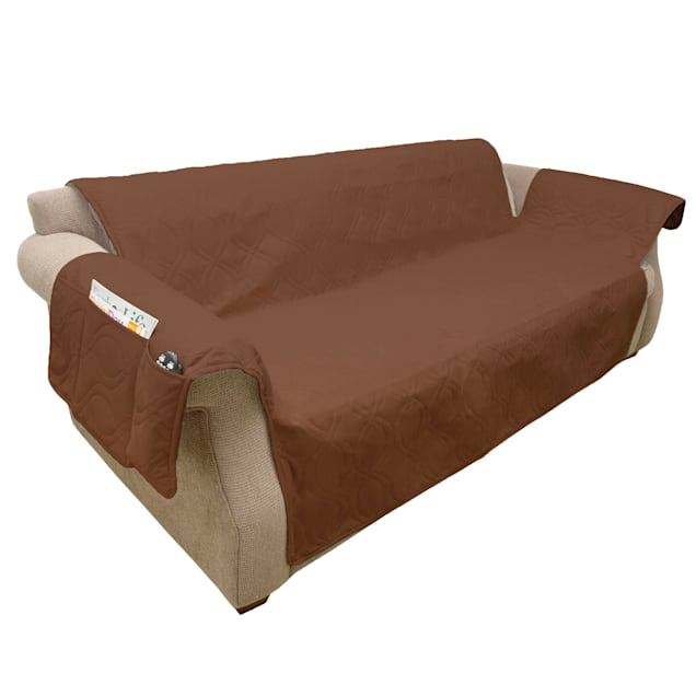 """PETMAKER Pet Waterproof Brown Furniture Cover for Couch/Sofa, 111"""" L X 76"""" W X 0.25"""" H - Carousel image #1"""