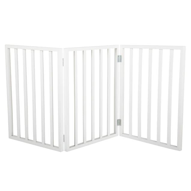 "PETMAKER Freestanding Wooden White Pet Gate, 1"" L X 54"" W X 24"" H - Carousel image #1"