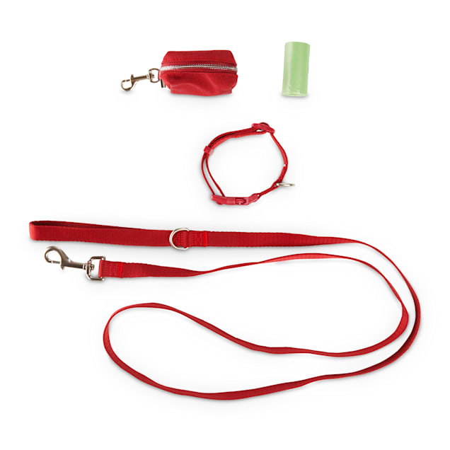 Bond & Co. Red 3-Piece Walking Kit for Dogs, Small - Carousel image #1