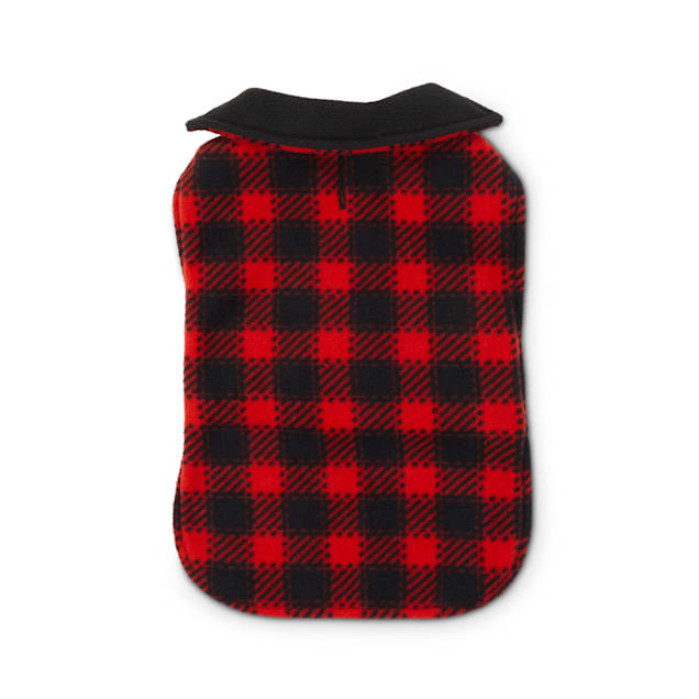 Good2Go Red Buffalo Check Classic Cozy Dog Coat, X-Small/Small - Carousel image #1