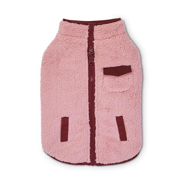 Good2Go Pink & Plaid Reversible Riding Dog Jacket, X-Small - Carousel image #1