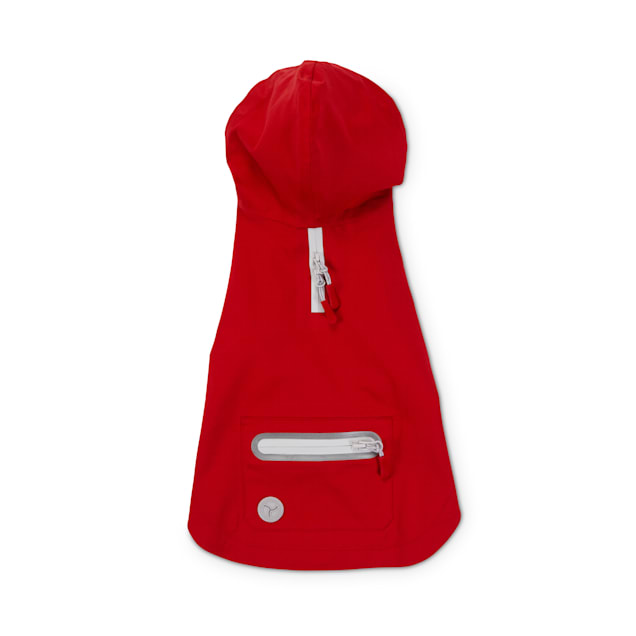 Reddy Red Hooded Waterproof Dog Raincoat, Small - Carousel image #1