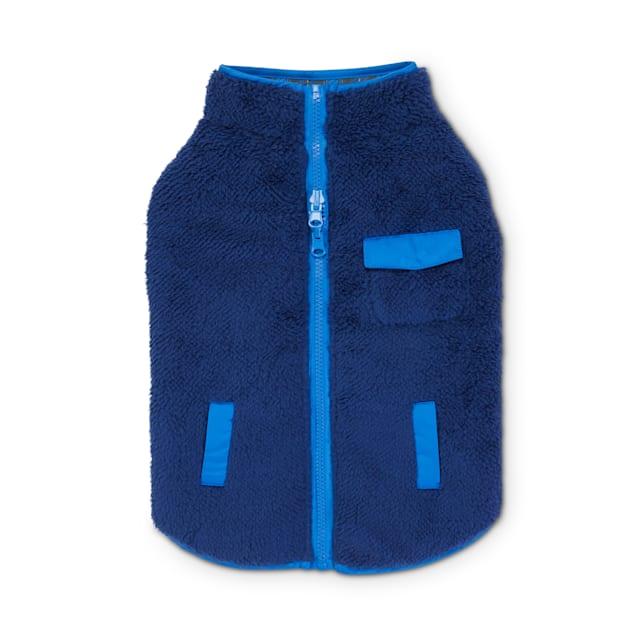 Good2Go Blue & Plaid Reversible Riding Dog Jacket, X-Large - Carousel image #1