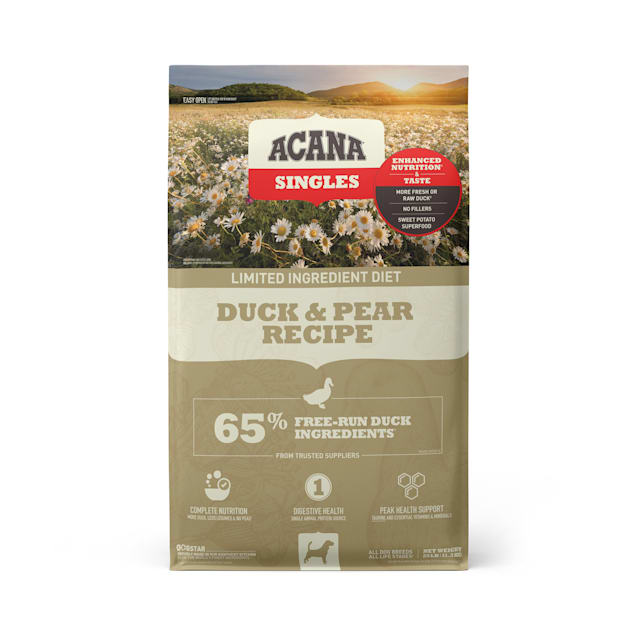 ACANA Singles Limited Ingredient Diet Grain-Free High Protein Duck & Pear Dry Dog Food, 25 lbs. - Carousel image #1