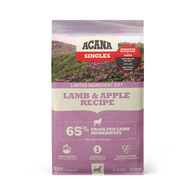 ACANA Singles Limited Ingredient Diet High Protein Lamb & Apple Dry Dog Food, 25 lbs. - Carousel image #1