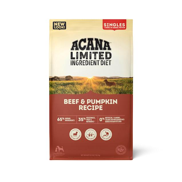 ACANA Singles Limited Ingredient Diet Grain-Free High Protein Beef & Pumpkin Dry Dog Food, 25 lbs. - Carousel image #1