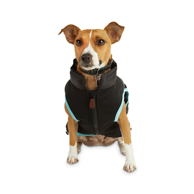 Reddy Black Zip-and-Stow Dog Puffer Jacket, Small - Carousel image #1
