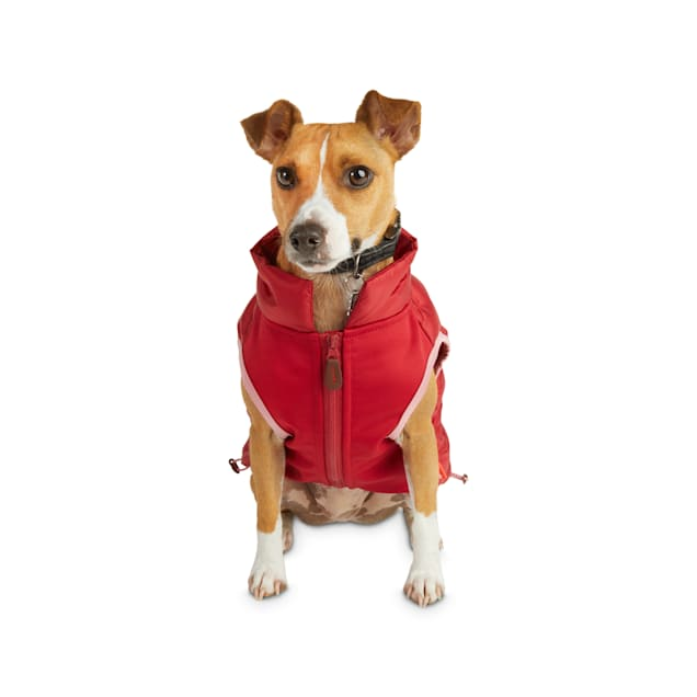 Reddy Burgundy Zip-and-Stow Dog Puffer Jacket, Small - Carousel image #1