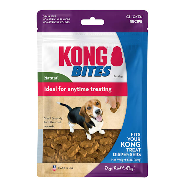 KONG Bites Chicken Chew Toy for Dogs, 5 oz. - Carousel image #1