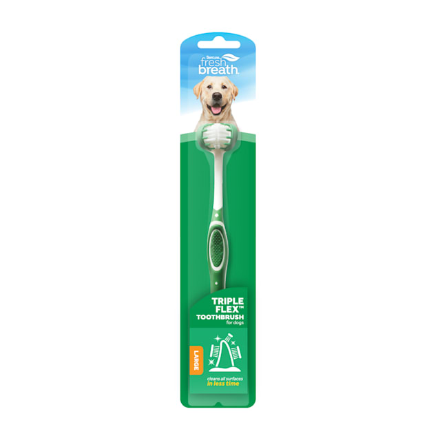 TropiClean Fresh Breath Triple Flex Toothbrush for Large Dogs - Carousel image #1