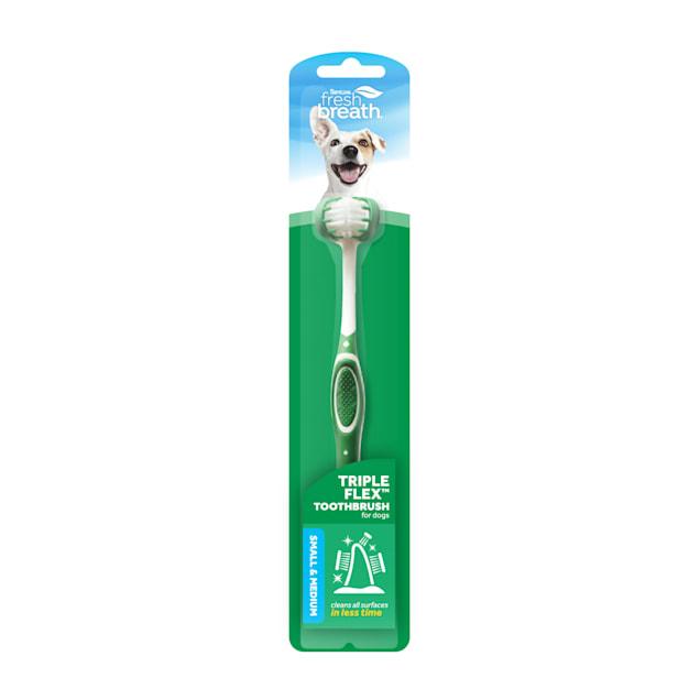 TropiClean Fresh Breath Triple Flex Toothbrush for Small & Medium Dogs - Carousel image #1