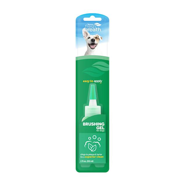 Fresh Breath by TropiClean Brushing Dental & Oral Care Gel for Pets, 2 fl. oz. - Carousel image #1