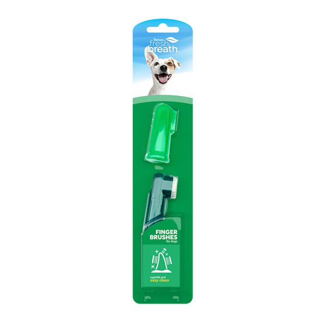 Fresh Breath by TropiClean Finger Brushes for Pets, Pack of 2 - Carousel image #1