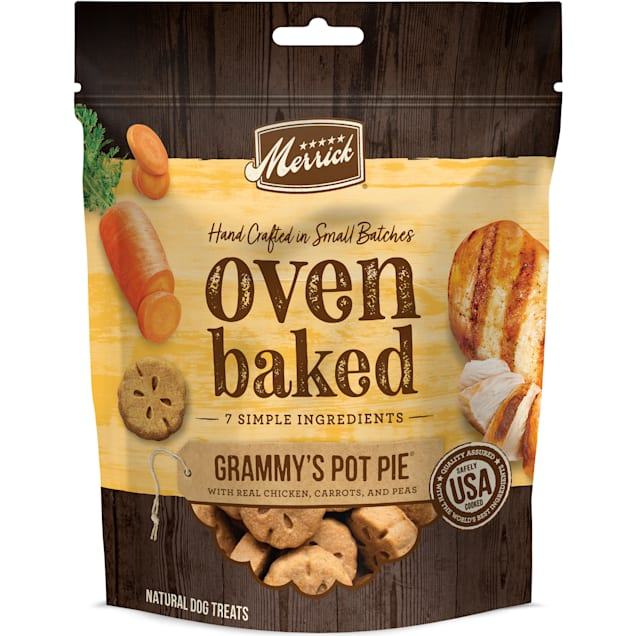 Merrick Natural Grammy's Pot Pie with Real Chicken, Carrots & Peas Treats for Dogs, 11 oz. - Carousel image #1