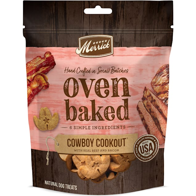 Merrick Oven Baked Cowboy Cookout with Real Beef and Bacon Treats for Dogs, 11 oz. - Carousel image #1