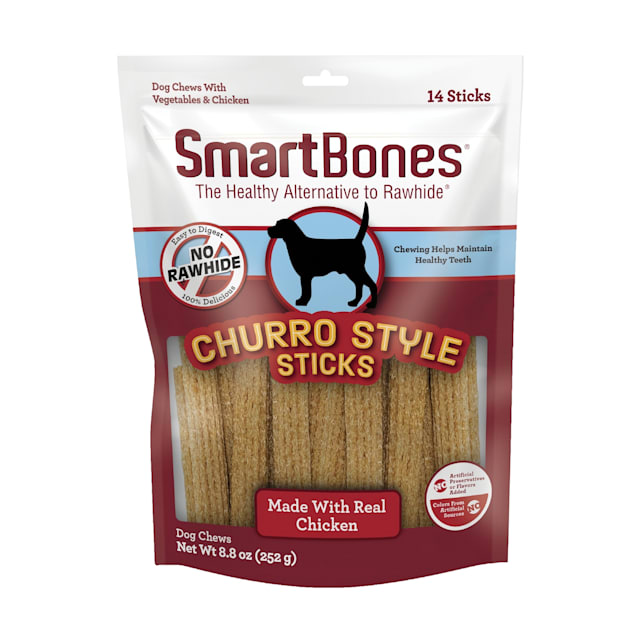 SmartBones Churro-Style Sticks With Chicken Dog Treats, Count of 14 - Carousel image #1