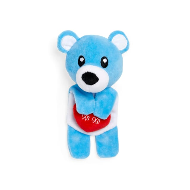Bond & Co. Valentine's Day Beary Special Plush Flattie Dog Toy, Small - Carousel image #1