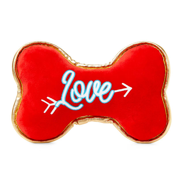 Bond & Co. Valentine's Day Sweet Bones Plush Dog Toy in Various Styles, Small - Carousel image #1