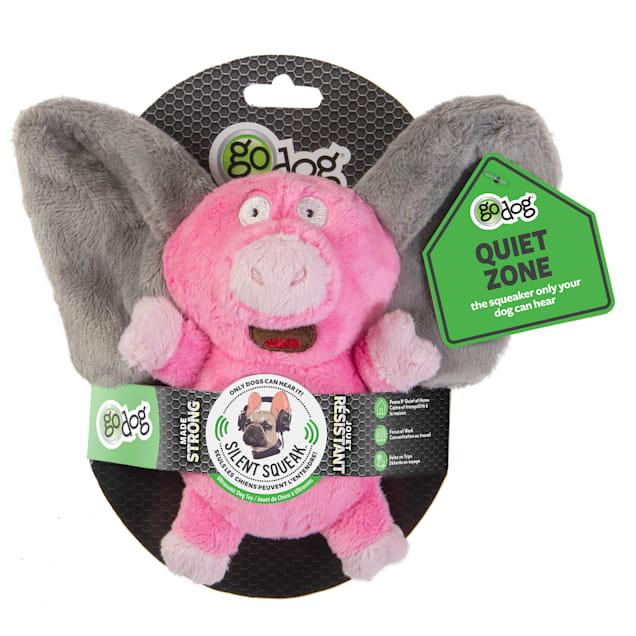 goDog Silent Squeak Flips Pig/Elephant Dog Chew Toys, Small - Carousel image #1