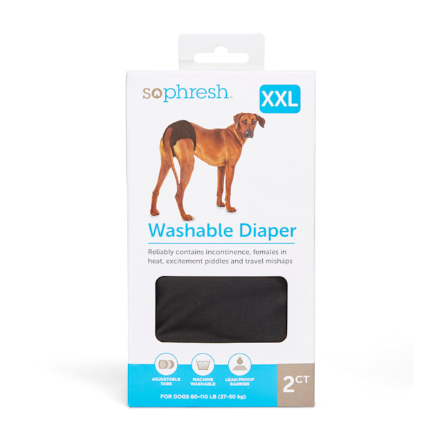 So Phresh Washable Pet Diapers, XX-Large, Count of 2 - Carousel image #1