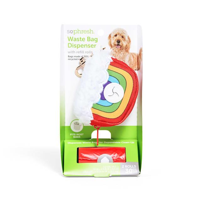 So Phresh Rainbow Fabric Dog Waste Bag Dispenser with Refill Rolls - Carousel image #1