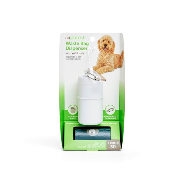 So Phresh White Dog Waste Bag Dispenser with Refill Rolls - Carousel image #1