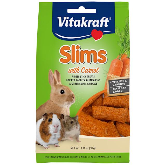 Vitakraft Slims with Carrot Rabbit Treats, 1.76 oz. - Carousel image #1