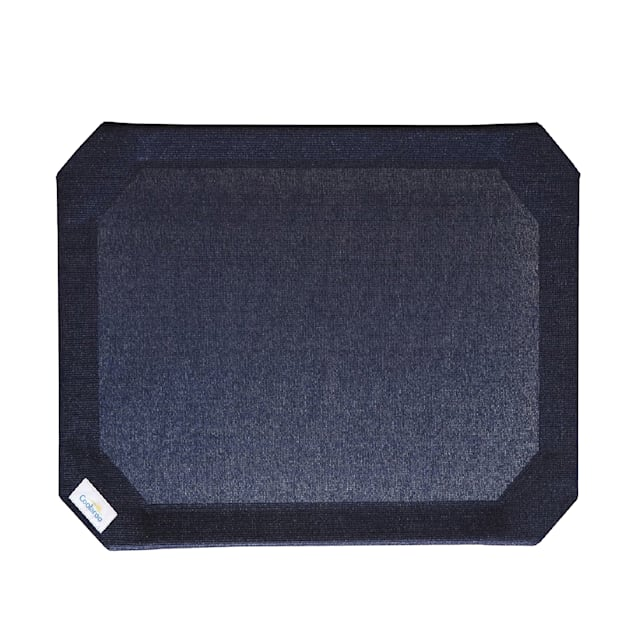 """Coolaroo Navy Blue Elevated Dog Bed Replacement Cover, 35.5"""" L X 25.75"""" W X 0.12"""" H - Carousel image #1"""