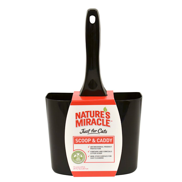 Nature's Miracle Just For Cats Litter Black Scoop & Caddy - Carousel image #1