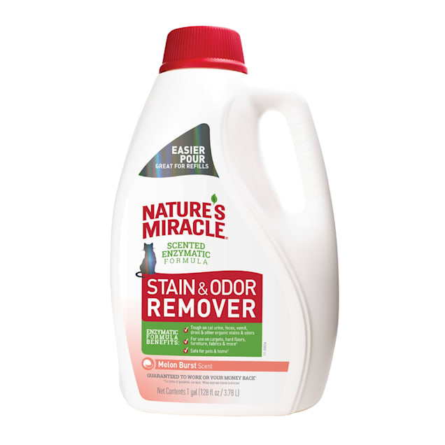 Nature's Miracle Melon Burst Stain & Odor Remover for Cats, 1 Gallon - Carousel image #1