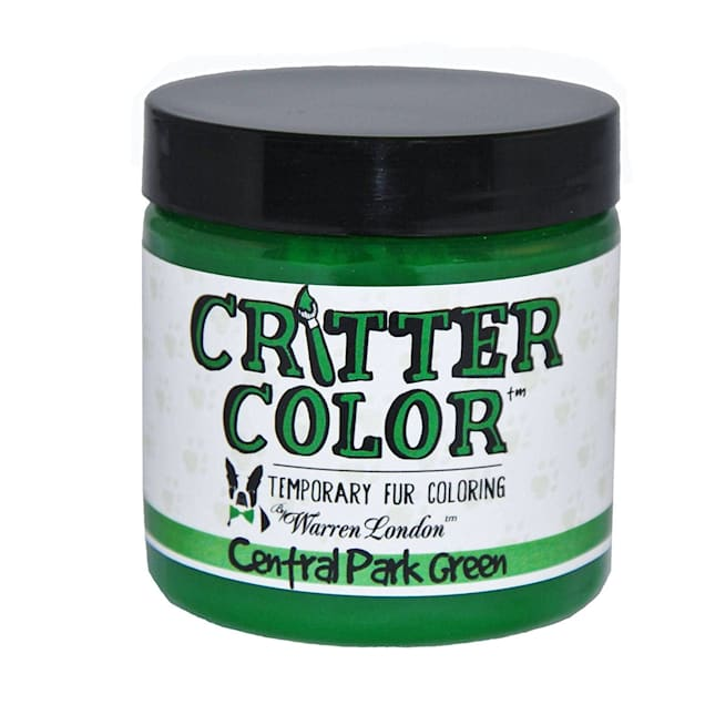 Warren London Critter Color Central Park Green Temporary Fur Coloring for Dogs, 4 fl. oz. - Carousel image #1