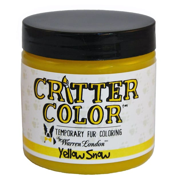 Warren London Critter Color Yellow Snow Temporary Fur Coloring for Dogs, 4 fl. oz. - Carousel image #1