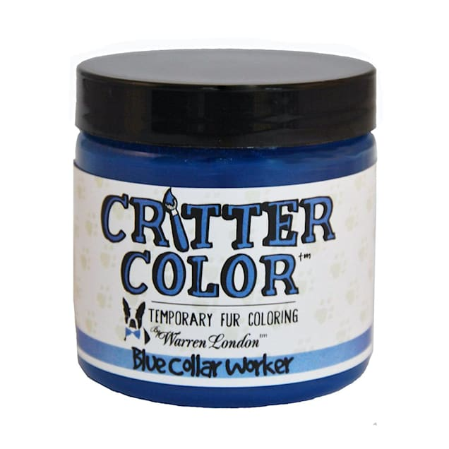 Warren London Critter Color Blue Collar Worker Temporary Fur Coloring for Dogs, 4 fl. oz. - Carousel image #1