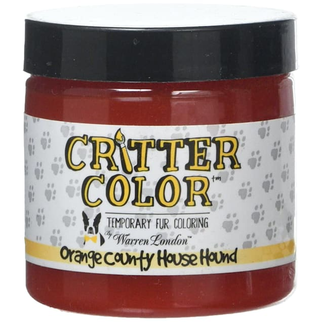 Warren London Critter Color Orange County House Hounds Temporary Fur Coloring for Dogs, 4 fl. oz. - Carousel image #1
