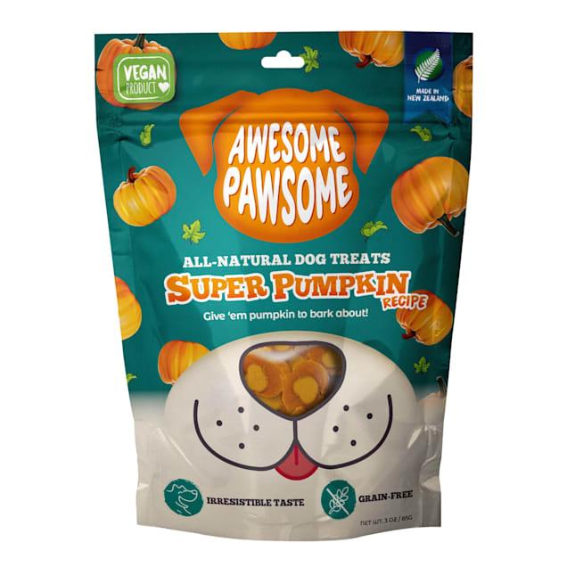 AWESOME PAWSOME All-Natural Super Pumpkin Semi-Soft Dog Treats, 3 oz. - Carousel image #1