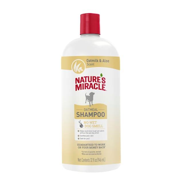Nature's Miracle Oatmilk & Aloe Scent Oatmeal Dog Shampoo, 32 fl. oz. - Carousel image #1