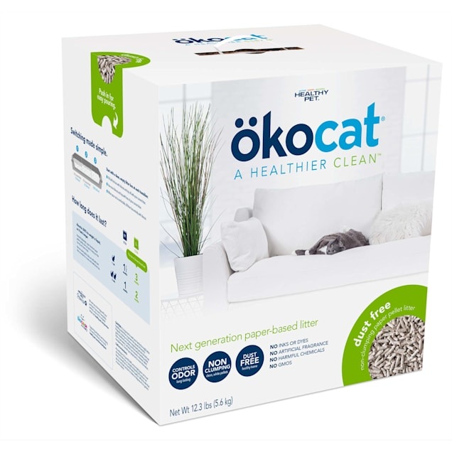 Okocat Dust Free Non Clumping Paper Pellet Cat Litter, 12.3 lbs. - Carousel image #1