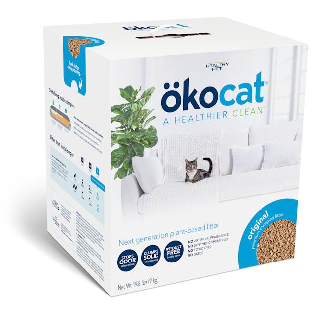 Okocat Original Premium Clumping Wood Cat Litter, 19.8 lbs. - Carousel image #1