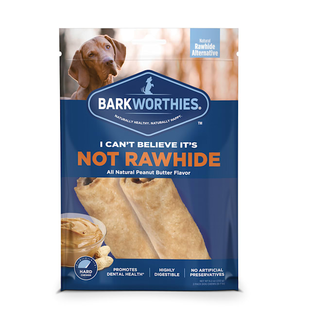 """Barkworthies 7"""" I Can't Believe It's Not Rawhide Dog Roll Chews, Count of 2 - Carousel image #1"""