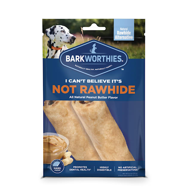 """Barkworthies 4"""" I Can't Believe It's Not Rawhide Dog Roll Chews, Count of 2 - Carousel image #1"""