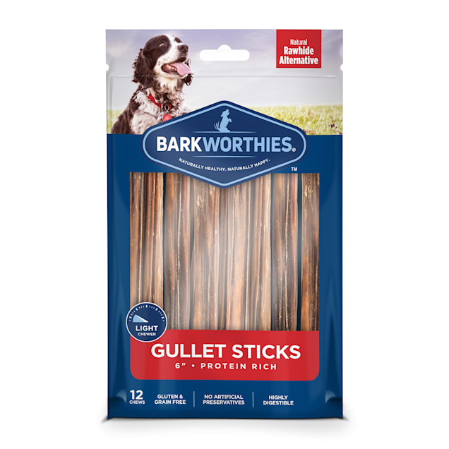 Barkworthies Protein Rich Gullet Stick Dog Chews, Count of 12 - Carousel image #1