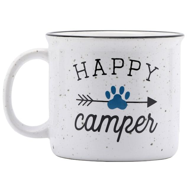 Open Road Brands Happy Camper Ceramic Mug for Dogs - Carousel image #1