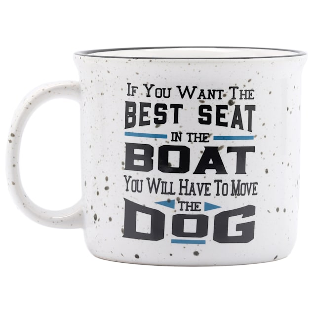 Open Road Brands Best Seat In The Boat Ceramic Mug for Dogs - Carousel image #1