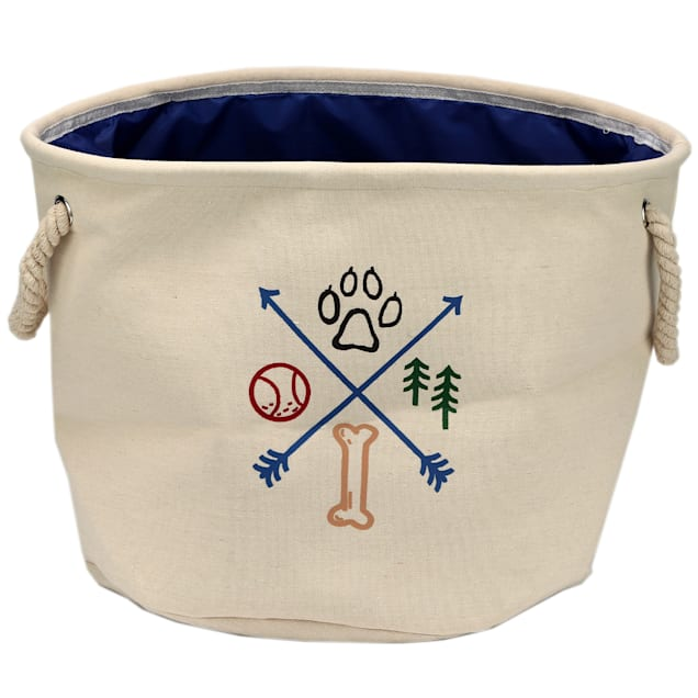 Open Road Brands Adventure Canvas Basket Dog Toy, Large - Carousel image #1