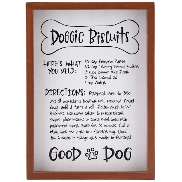 Open Road Brands Framed Dog Biscuit Recipe Wall Decor - Carousel image #1