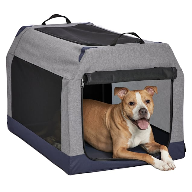 """Midwest Gray Canine Camper Soft Tent Dog Crate, 36.23"""" L X 24.61"""" W X 23.12"""" H - Carousel image #1"""