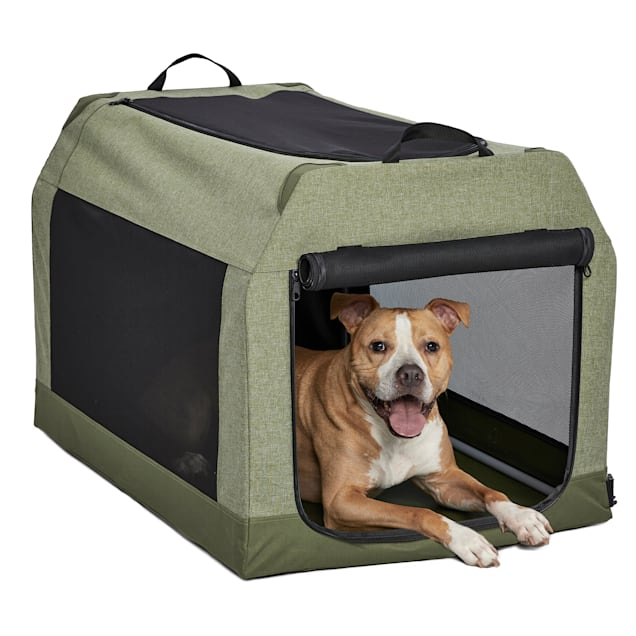 """Midwest Green Canine Camper Soft Tent Dog Crate, 36.23"""" L X 24.61"""" W X 23.12"""" H - Carousel image #1"""